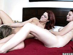 Mercedes Lynn takes lesbian sex to the whole new level as she does it with Jayden Cole