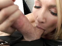 Mike Adriano uses his throbbing ram rod to bring Blake Rose to the height of pleasure after blowjob