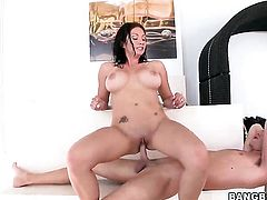 Karrlie Dawn with round ass riding rock hard cock