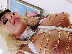 Lesbians can get pretty wild, when they use their imagination and are creative with sex toys. The busty bitches in the video play really dirty, licking ass, inserting a huge dildo in a slut's amazing butt, or fucking each other with a strap on. See the versed blonde milf, guiding Jayden and Tori to reach pleasure.