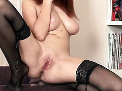 Marina Visconti needs nothing but a sex toy in her muff to get satisfaction
