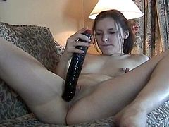This nasty porn chick gets her shaved pussy played with a sex toy and gets pussy hole fucked hardcore in hot orgasm.
