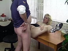 Office sex does not get any hornier than this. These mature teachers have had a crush on each other for years.