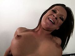Pamela Smile has a great desire to be face fucked by David Perry before butt fucking