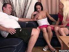 This mature couple is very happy with their sex life no doubt, but a change will spice up everything and they've found this young one here who is open as a threesome partner.