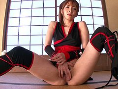 samurai girl gives in to horny guy