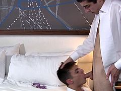 Anthony and Mike met for an official meeting. It was supposed to be business and nothing else. But when they saw each other, they knew, they had to fuck. Without wasting any time, they booked a hotel room and fucked each other very hard in the ass. Of course, after one of t