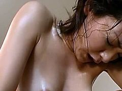 Brilliant Japanese MiLF inside an office suit licks the huge thing until climbing aboard
