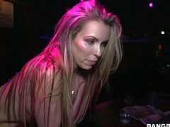 Courtney Cummz is the sexiest stripper in the hood. Long haired playful blonde with perfect big tits and hot ass takes off her red panties and spreads her legs to show her lovely fuckable pussy to everyone!