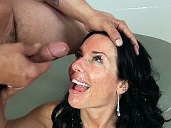She cums her brains out while getting double penetrated