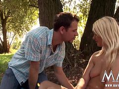 Little girl gets a surprise visit while she sunbathes nude in the park. She ends up moaning and screaming before getting a big cumshot on her cute little face.