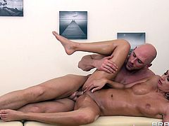 This is a massage fuck scene with a hot pussy fucking a hot stud's big cock hardcore doggystyle in a nasty and hot orgasm.