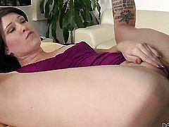 Wesley Pipes makes Sasha Knox gag on his beefy meat pole