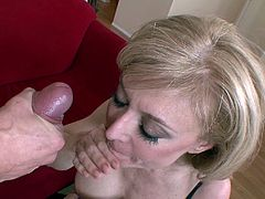 A dirty older woman lays back and enjoys some hard dick