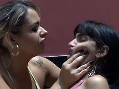 kisses between a housewife and her maid