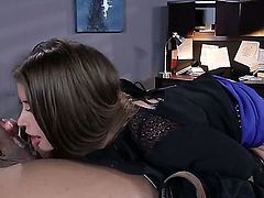 Clothed sex with passionate brunette Karlo Karerra