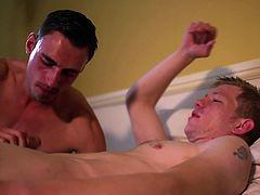 Alex and Daniel live in the same house and are often tempted to stay close to each other. That's why when Alex came into Daniel's room, while he was in bed, the most natural thing to do, was to take his dick in his mouth. Daniel doesn't mind waking up, just so he can kiss Alex and suck his dick. Watch these two hot gay Englishmen fuck really hard.