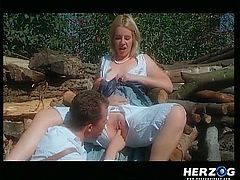 Who said classic porn is outdated? German babes get dirty in front of the camera. There are crazy lesbians, who love to eat pussy and play with sex toys, and also you get to see a blonde-haired lady undressed outside near a pile of wood. Don't miss the exciting scenes, where the bitches become wilder.