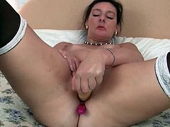 Mature mom Gianna Michaels toying her pussy before the camera to excite us. British milf Becky loves to fuck her pussy and ass with dildos. Brand new footage shot by our perverted photographer.