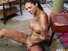 Bonnie Rotten gets her pussy wrecked in a night club
