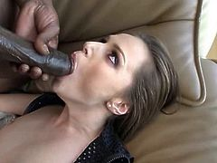 One hot butthole swallows 1 big black pole