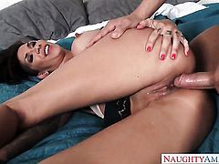 Xander Corvus whips out his schlong to fuck ultra hot Kayla Carreras muff