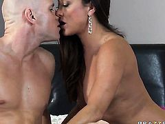 Michelle Lay sucks like no other and horny dude Johnny Sins knows it