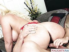 Alura Jenson feels the best feeling ever with Johnny Castles beefy hard schlong in her pussy hole