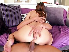 Karlie Montana is on the way to orgasm with hard sausage in her cunt