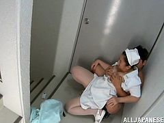 If Japanese ladies dressed up in kinky nurse uniforms torment your dreams, click to watch a brunette hot slut, pleasing a horny patient. The busty woman is persuaded into getting down on knees and sucking the lusty guy's cock. Enjoy the exciting scene and the hardcore details!