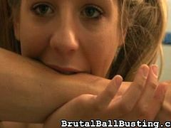 Perverted lady domination mov presented by Brutal Ball beating