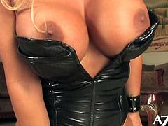 Sophia Rossi is a sexy blonde milf goddess ready to get kinky! Watch her riding a sybian with her tight clam while flaunting her magnificent tits in some very interesting poses!