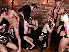 Bachelor party ending up with crazy group sex orgy