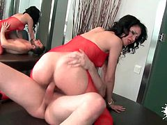 Hot and horny latina babes play strip poker. Loser wins a cock in their pussy!