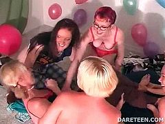 Naked hot girl gets her body teased in a truth or dare sexgame