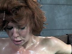 Bosomy ginger mom got her mouth destroyed in hard BDSM style