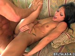 Fuckable chick with flat tits Jayna Oso gets her anus rammed hard