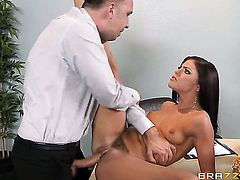 Keiran Lee touches the hottest parts of lustful Adriana Chechiks body before he nails her pussy