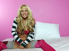 Picture coming home after a long day and seeing Bree Daniels with a big smile on her face waiting for you. Walking towards her, her eyes never unlock from yours, her hands already moving down the buttons of her shirt.By the time you are face to face with her all that's left are her pink sheer panties and your palm makes contact with her soft breast. Your other hand slides down her back and into her panties and onto her ass. Isn't it nice having someone waiting on you?