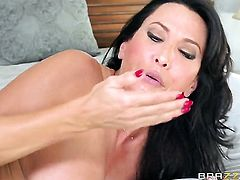 Danny D plays with dripping wet love hole of Lezley Zen before he fucks her hard