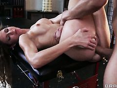 Xander Corvus cant resist yummy Jenni Lees attraction and bangs her mouth like theres no tomorrow