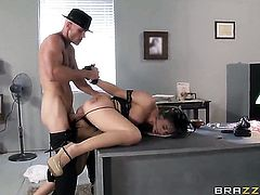 Chanel Preston with gigantic knockers has sex fun with hot guy Johnny Sins