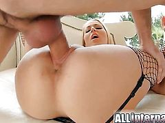 Flirtatious temptress needs nothing but guys hard boner in her snatch to get orgasm