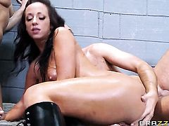 Jada Stevens and her horny bang buddy Keiran Lee enjoy anal sex too much to stop