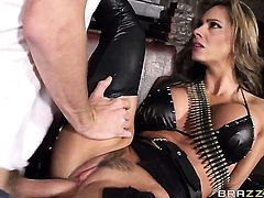 Danny D shoots hos load after Senora Esperanza Gomez gives magic throat job