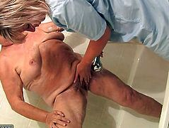 OldNanny Hot amateur mature showers old chubby granny