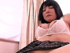 Private Lesson involving the Dirty Japanese honey Ai