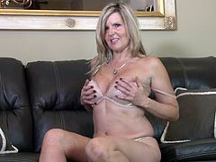 Velvet is a beautiful blonde lady, who still craves for some action. Her gorgeous body and sweet looks will sure easily convince you to grab her for a good fuck. See this amazing lady doing naughty moves and stripping, to have some twat fun, until she gets some real pleasure. Let's help her out!