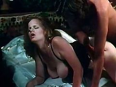 After steamy 69 pose super busty red haired MILF rides fat cock for joy
