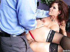 Syren De Mer with giant boobs having vigorous anal sex with hot bang buddy Ramon